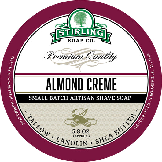 Stirling Shave Soap Almond Creme