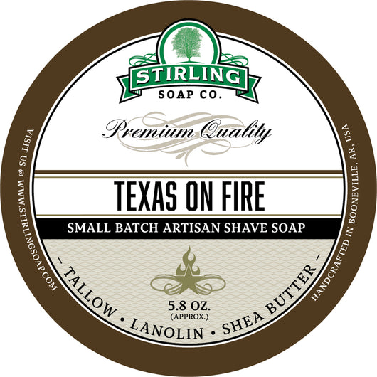 Stirling Shave Soap Texas on Fire
