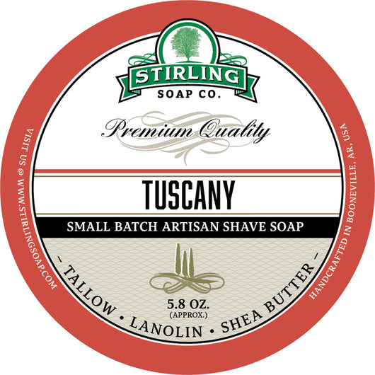 Stirling Shave Soap Tuscany