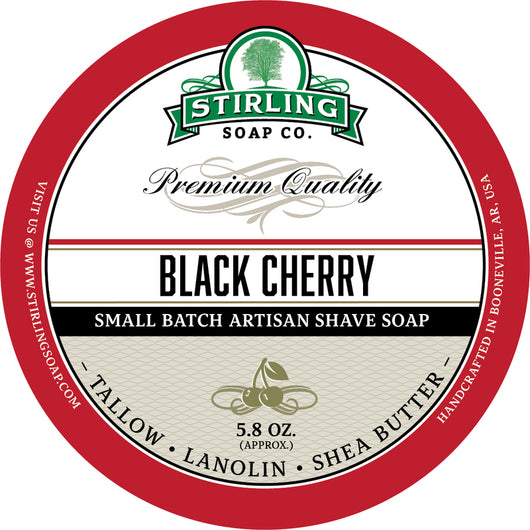 Stirling Shave Soap Black Cherry