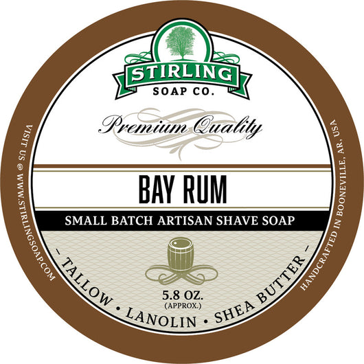 Stirling Shave Soap Bay Rum