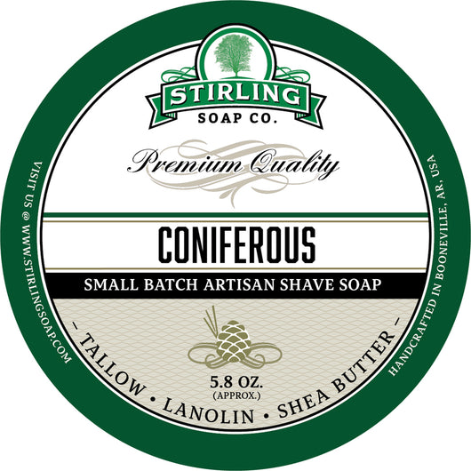 Stirling Shave Soap Coniferous
