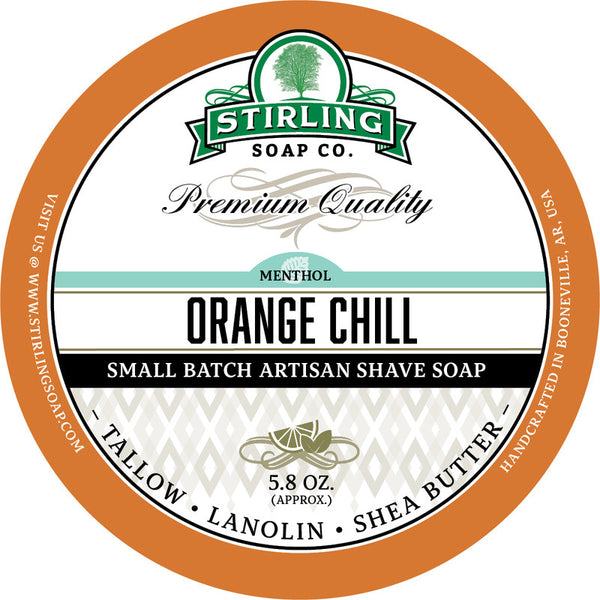 Stirling Shave Soap Orange Chill