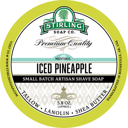 Stirling Shave Soap Iced Pineapple