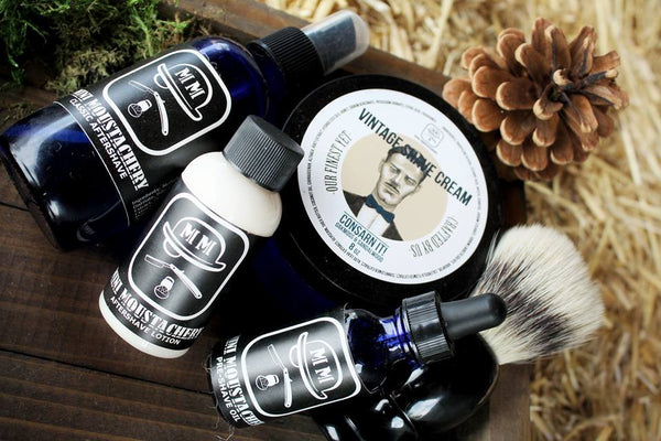 Mini Moustachery Shaving Kit Boar Brush
