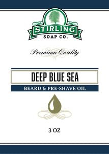 Stirling Beard & Pre-Shave Oil Deep Blue Sea