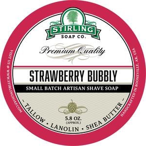 Stirling Shave Soap Strawberry Bubbly