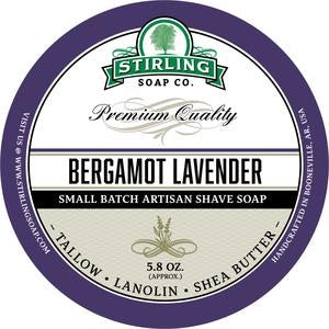 Stirling Shave Soap Bergamot Lavender