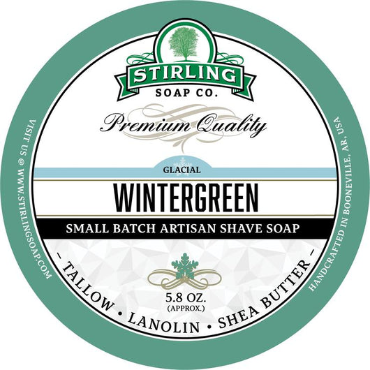 Stirling Shave Soap  Glacial, Wintergreen