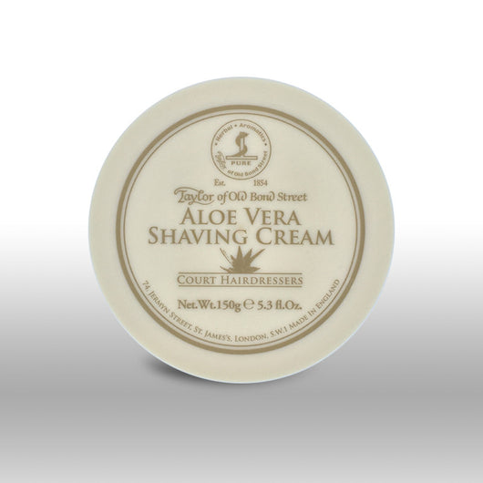 Taylor of Old Bond Street Shave Cream Pot Aloe Vera