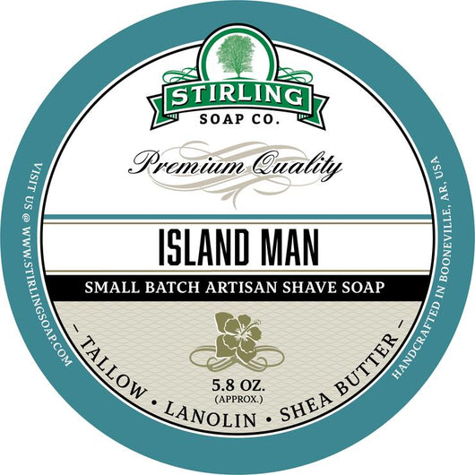 Stirling Shave Soap Island Man