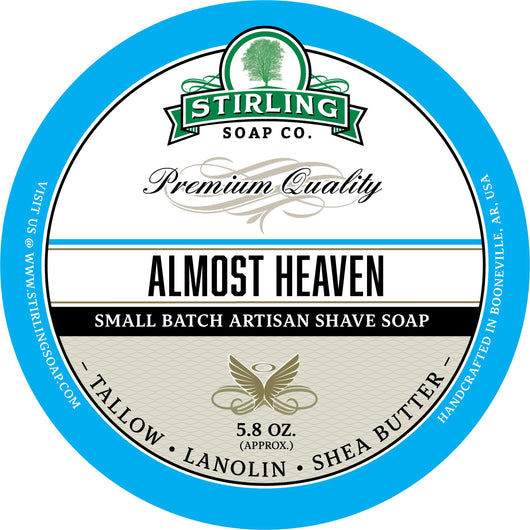 Stirling Shave Soap Almost Heaven