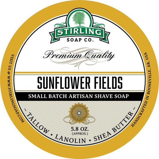 Stirling Shave Soap Sunflower Fields