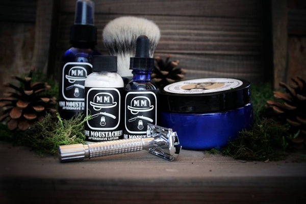 Mini Moustachery Shave Kit Safety Razor