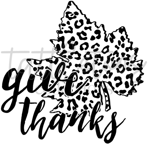 BLK LPRD LEAF - GIVE THANKS TF1