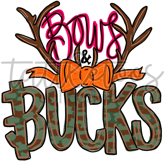 BOWS & BUCKS HAND DRAWN 1