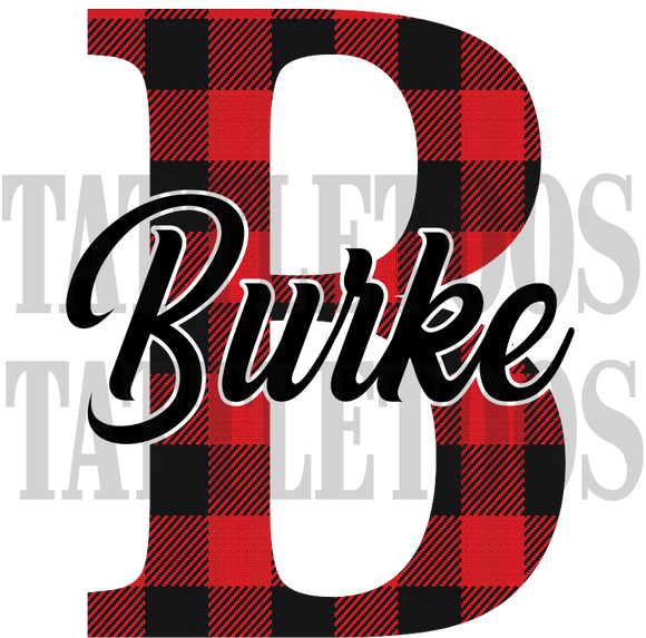 BUFFALO PLAID BURKE CUSTOM (DIGITAL PNG)