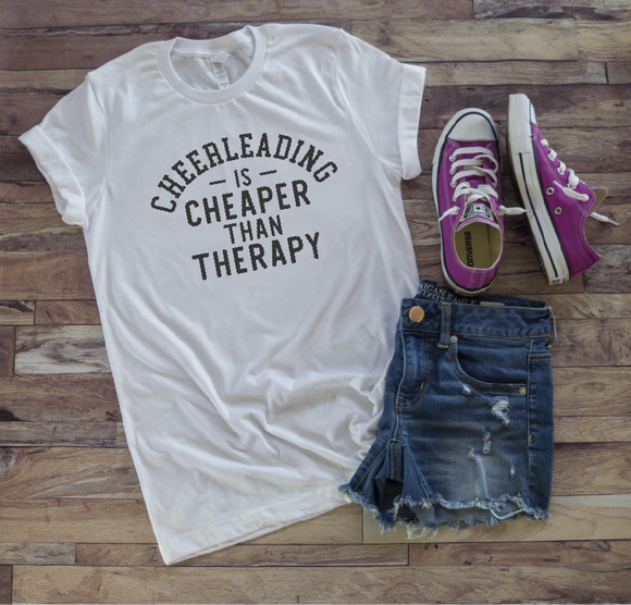 CHEERLEADING IS CHEAPER THAN THERAPY - 0197