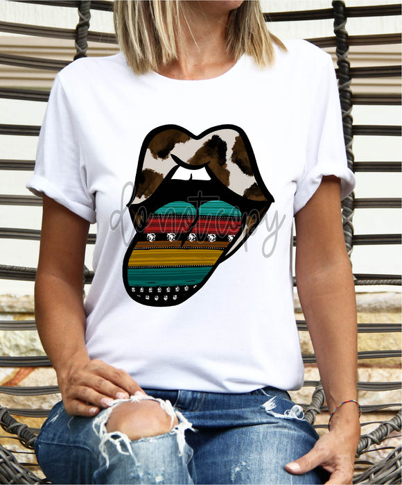 COWHIDE SERAPE TONGUE OUT CCC1