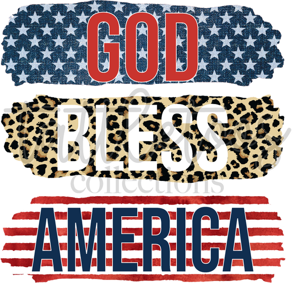 GOD BLESS AMERICA PATTERNED TF1