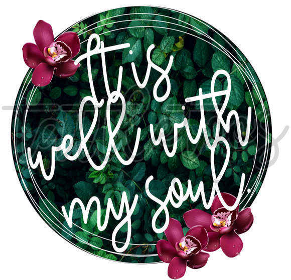IT IS WELL WITH MY SOUL - GREENERY FRAME TT1