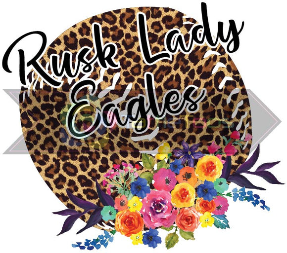 RUSK LADY EAGLES LEOPARD SOFTBALL (DIGITAL PNG)