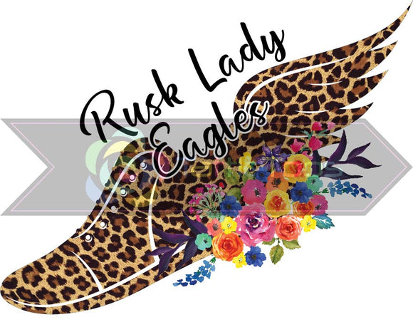 RUSK LADY EAGLES LEOPARD TRACK SHOE (DIGITAL PNG)