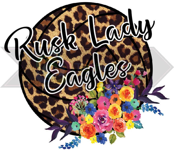 RUSK LADY EAGLES LEOPARD VOLLEBALL (DIGITAL PNG)