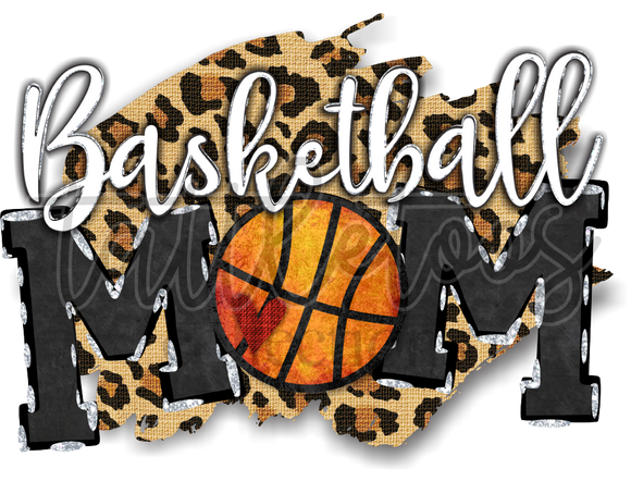 LEOPARD BACKGROUND BASKETBALL MOM SCA1