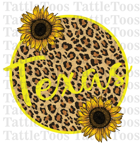 LEOPARDSUNFLOWERCIRCLE TEXAS