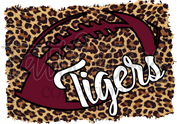 LEOPARD TIGERS FOOTBALL MAROON TT1
