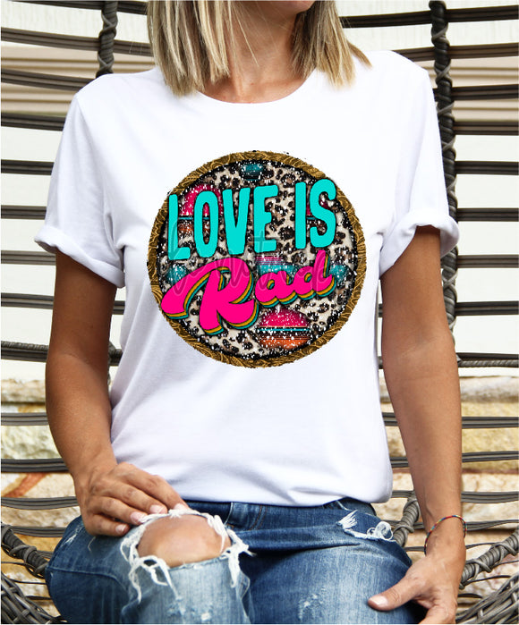LOVE IS RAD WESTERN CIRCLE CCC1