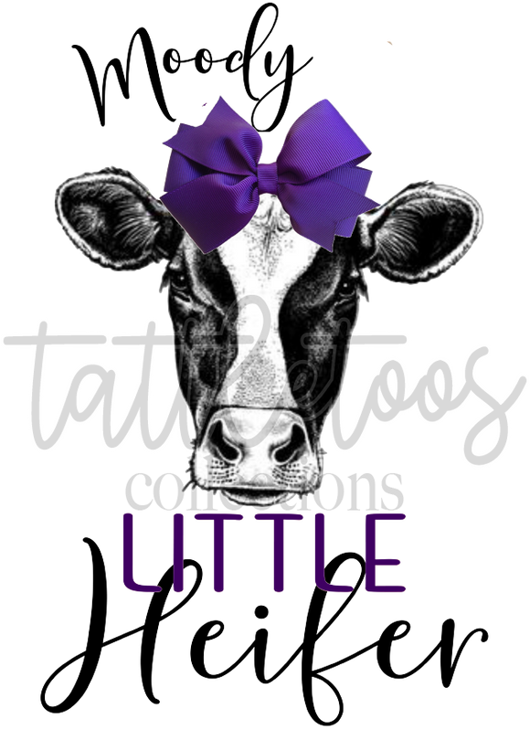 MOODY LITTLE HEIFER - PURPLE BOW TF1
