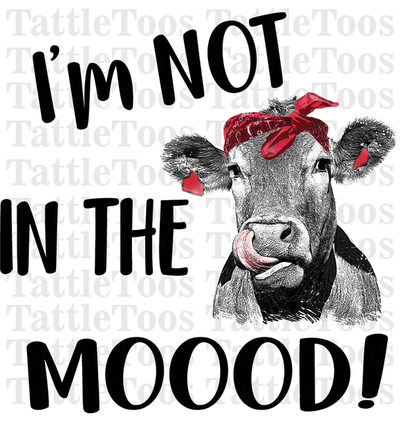 NOTINTHEMOOOD RED BANDANA COW