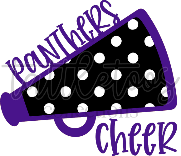 PANTHERS MEGAPHONE DOTS PURPLE TF1