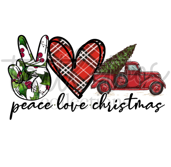 PEACE LOVE CHRISTMAS - RED TRUCK TV1