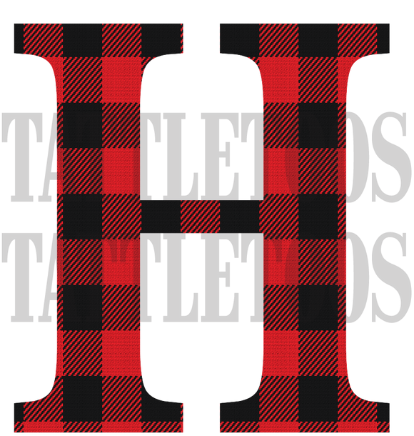 BUFFALO PLAID H (DIGITAL PNG)