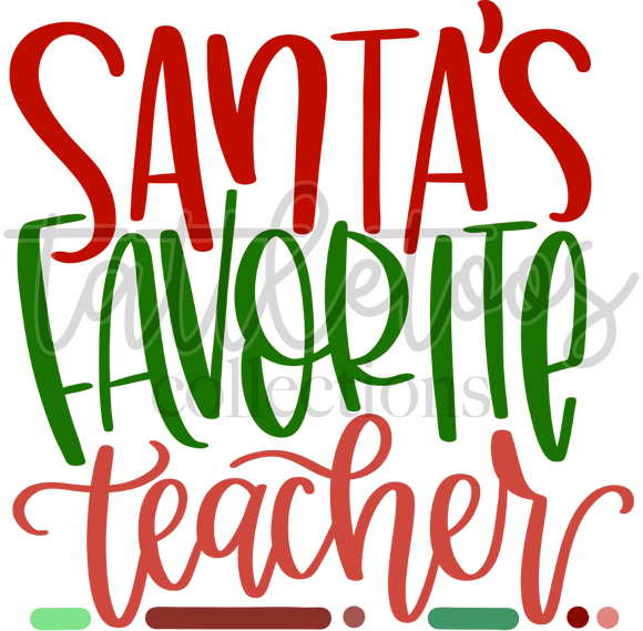 SANTA'S FAVORITE TEACHER - FAD1