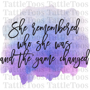 SHE REMEMBERED WHO SHE WAS WATERCOLOR (DIGITAL PNG)