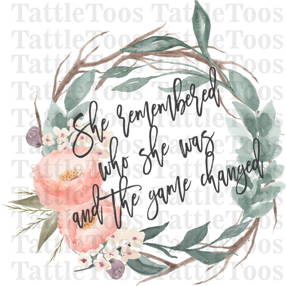 SHE REMEMBERED WHO SHE WAS WREATH (DIGITAL PNG)