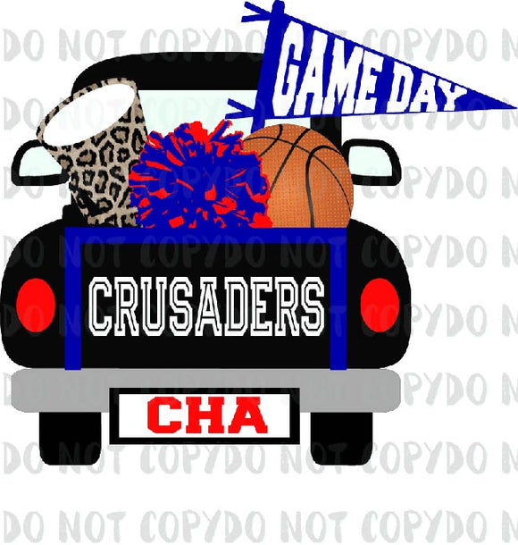 SPIRITBASKETBALLTRUCKTF CRUSADERS RED BLACK BLUE