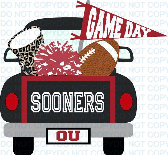 SPIRITTRUCKTF SOONERS RED WHITE
