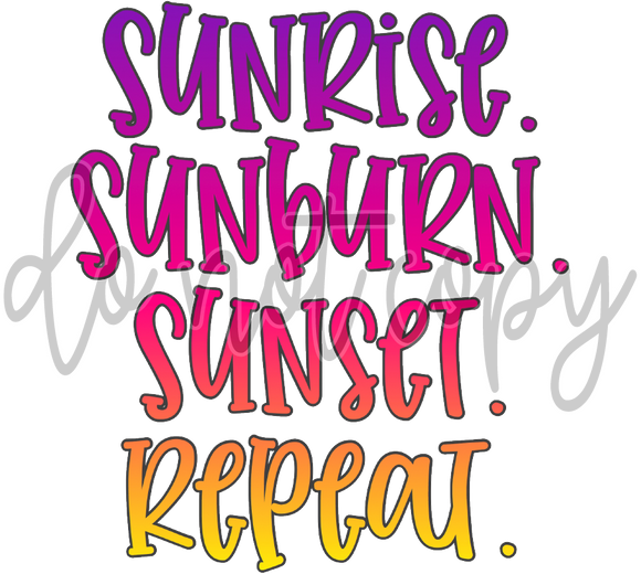SUNRISE SUNBURN SUNSET REPEAT TF1