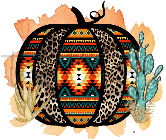 TRIBAL PUMPKIN WITH CACTUS OTF1