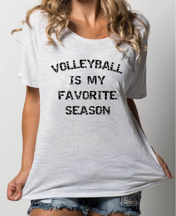 VOLLEYBALL IS MY FAVORITE SEASON DISTRESSED BLACK - 0246