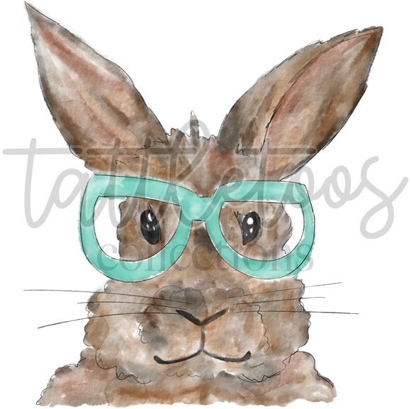 WATERCOLOR RABBIT MINT GLASSES