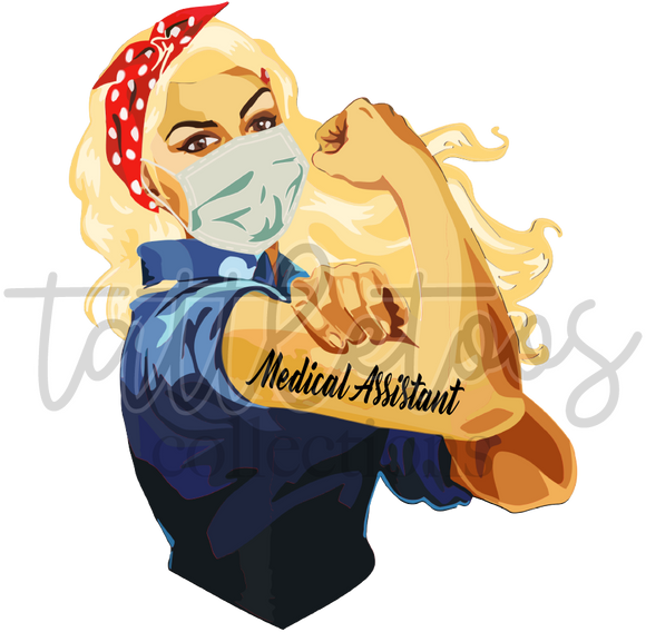 WOMAN  POWER MEDICAL ASSISTANT BLONDE TF1