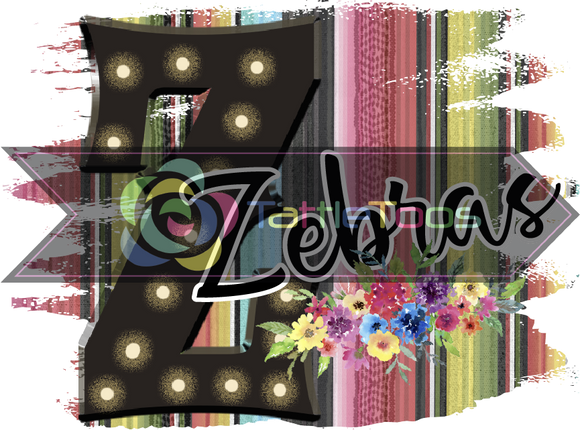 ZEBRASSERAPEBACKGROUND BLACK MARQUEE