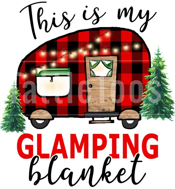 GLAMPING BLANKET BUFF PLAID