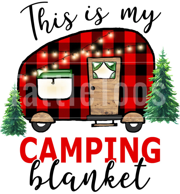 CAMPING BLANKET BUFF PLAID